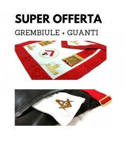 SUPER OFFERTA* GREMBIULE EX MAESTRO VENERABILE + GUANTI